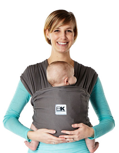 Baby K Tan Breeze Cotton Baby Carrier-GREY-Small