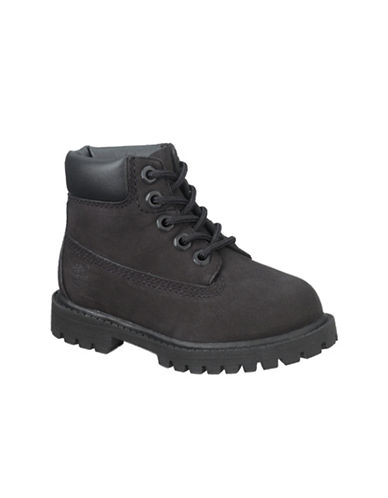 Timberland Premium Waterproof Leather Lace-Up Boots-BLACK-6.5
