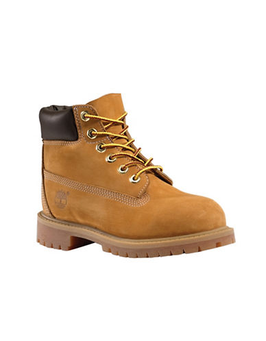 Timberland Premium Waterproof Leather Lace-Up Boots-BEIGE-3.5
