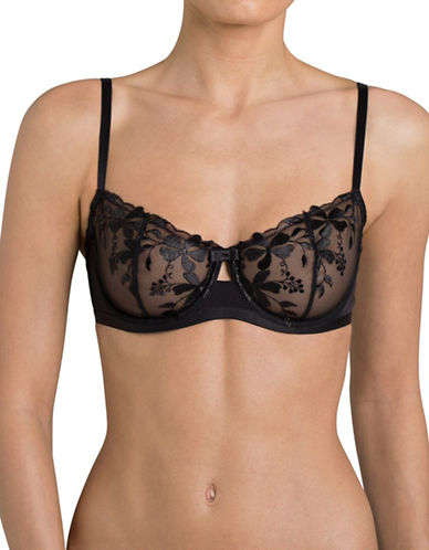 Triumph Sexy Angel Spotlight Balconette Bra-BLACK-34DD