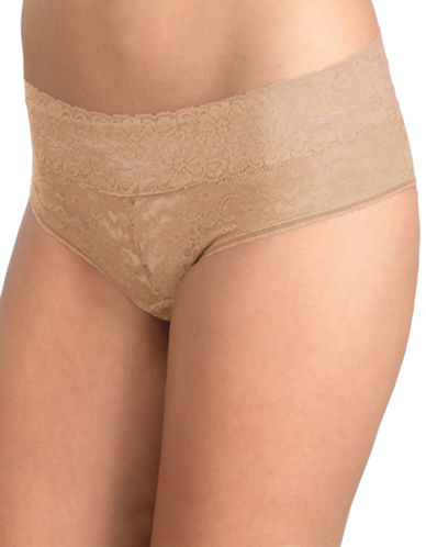 Triumph Lace Hipster Briefs-BEIGE-Small