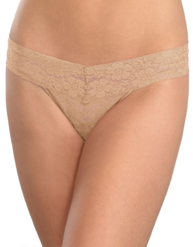 Triumph Lace Thong-BEIGE-Small