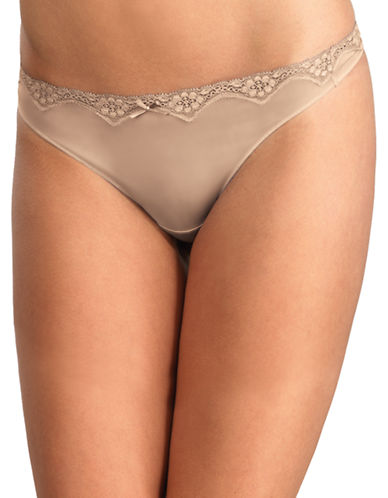 Triumph Micro and Lace Thong-BEIGE-Small