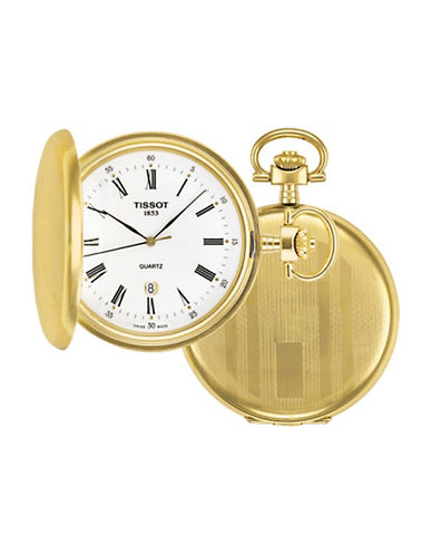 Tissot Savon Swiss Quartz Pocket Watch-GOLD-One Size