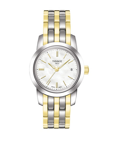 Tissot Classic Dream Two Tone Bracelet Watch-GOLD-One Size