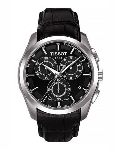 Tissot Mens Couturier  Quartz Chrono T0356171605100-BLACK-One Size