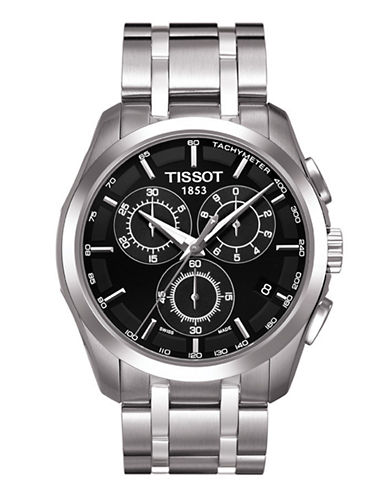 Tissot Mens Couturier  Quartz Chrono T0356171103100-BLACK-One Size