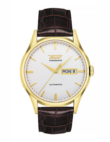 Tissot Mens Visodate  Automatic T0194303603101-BROWN-One Size