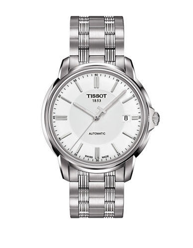 Tissot Analog Automatics III T White Stainless Steel Bracelet Watch-SILVER-One Size