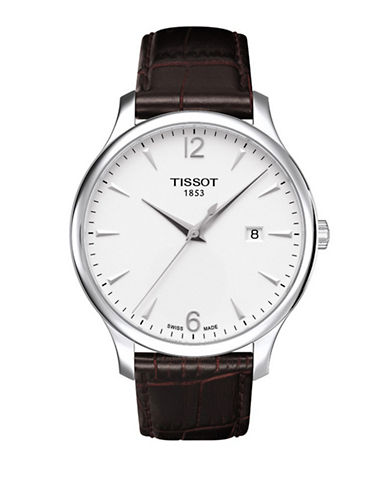 Tissot Mens Tradition  Quartz T0636101603700-BROWN-One Size