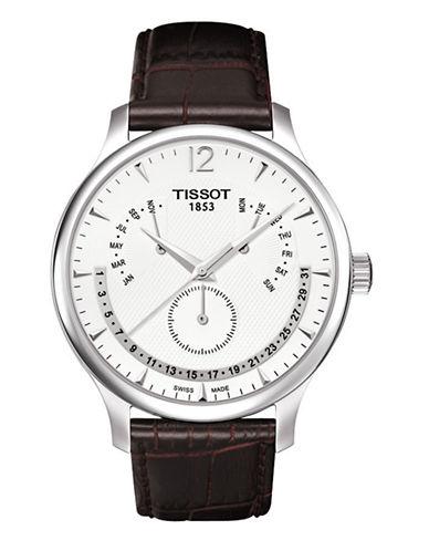 Tissot Mens Tradition  Quartz Perpertual Calendar T0636371603700-BROWN-One Size
