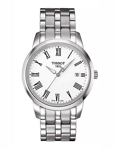Tissot Mens Classic Dream  Quartz T0334101105301-SILVER/WHITE-One Size