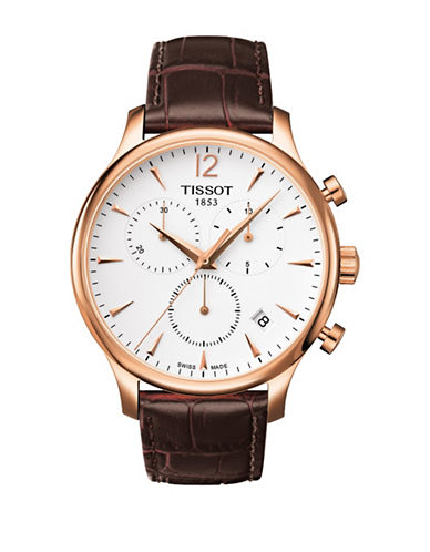 Tissot Tradition Swiss Quartz Chronograph Strap Watch-BROWN-One Size
