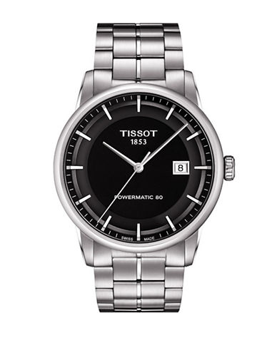 Tissot Automatic Luxury Gents Stainless Steel Bracelet Watch-SILVER-One Size