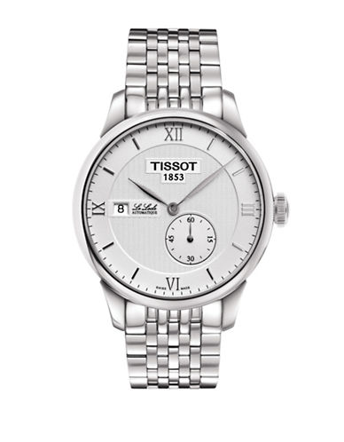 Tissot Le Locle Automatic Silvertone Bracelet Watch-SILVER-One Size