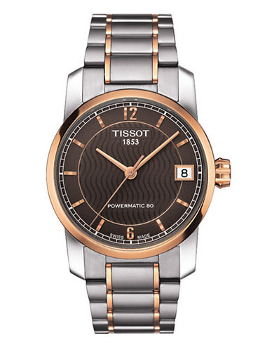 Tissot Womens Titanium Automatic Standard Watch-TWO TONE-One Size