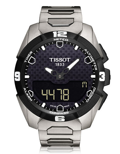 Tissot Mens TTouch Expert Solar  T0914204405100-SILVER-One Size
