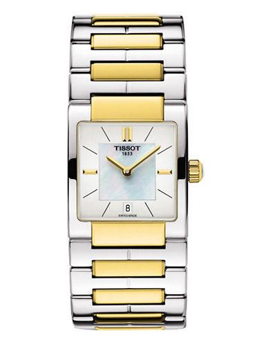 Tissot Analog Two Toned Bracelet Watch-TWO TONE-One Size
