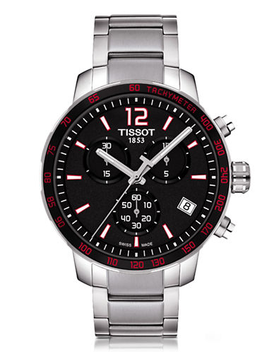Tissot Mens Quickster  Quartz Chrono T0954171105700-SILVER-One Size