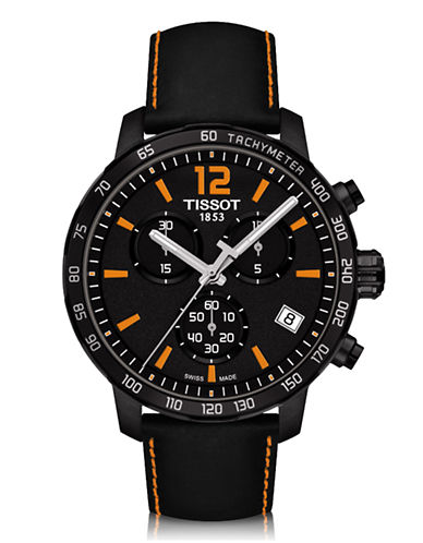 Tissot Mens Quickster  Quartz Chrono T0954173605700-BLACK-One Size