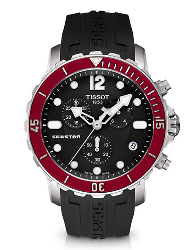 Tissot Mens Seastar 1000  Quartz T0664171705701-BLACK-One Size