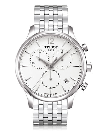 Tissot Mens Tradition  Quartz T0636171103700-SILVER-One Size