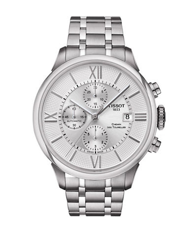 Tissot Chronograph Chemin des Tourelles Stainless Steel Watch-SILVER-One Size