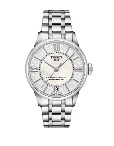 Tissot Chemin des Tourelles Stainless Steel Watch-SILVER-One Size