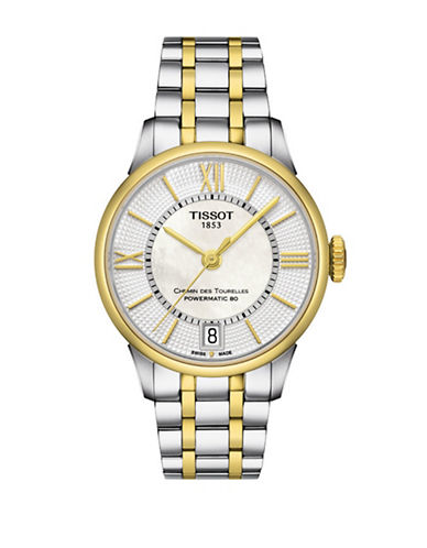 Tissot Chemin des Tourelles Two-Tone Stainless Steel Watch-TWO TONE-One Size