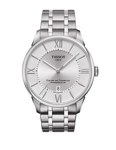 Tissot Stainless Steel Chemin des Tourelles Watch-SILVER-One Size