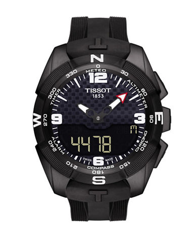 Tissot T-Touch Expert Quartz Solar Tactile Rubber Strap Watch-BLACK-One Size