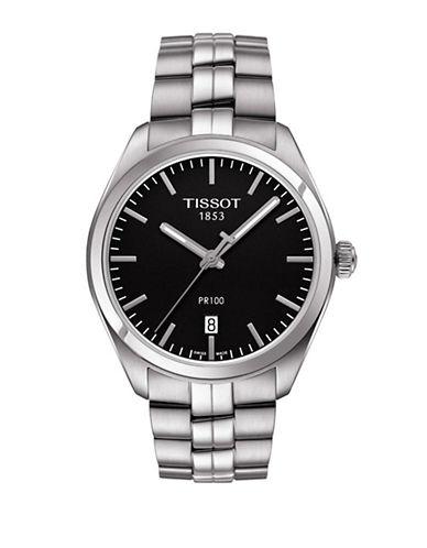 Tissot Analog PR 100 Black Dial Watch-SILVER-One Size