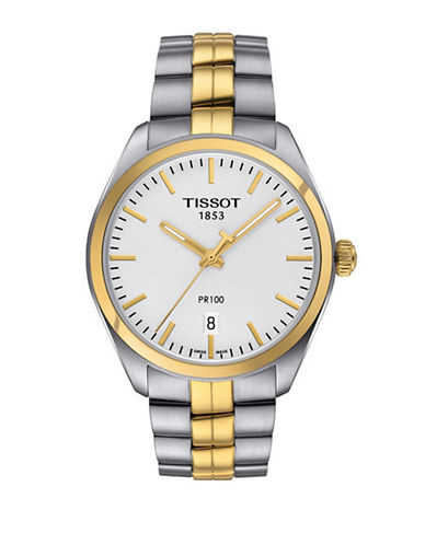 Tissot Analog PR 100 Two-Tone Stainless Steel Watch-TWO TONE-One Size