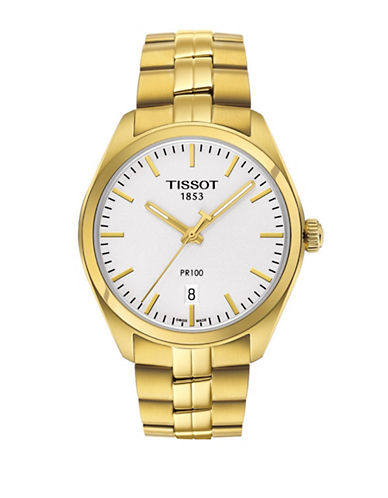Tissot Goldtone Stainless Steel PR 100 Watch-GOLD-One Size