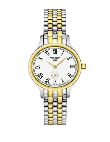 Tissot Analog Bella Ora Piccola Two-Tone Bracelet Strap Watch-TWO TONE-One Size