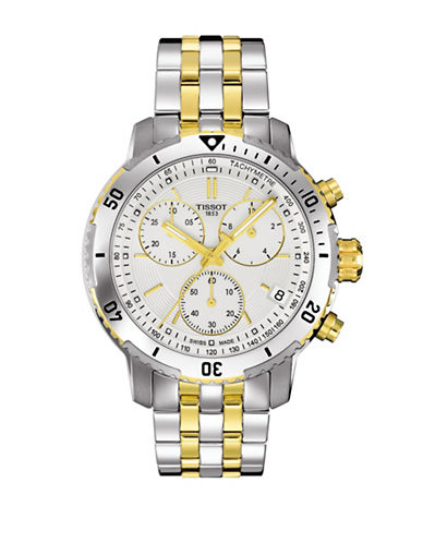 Tissot Chronograph PRC 200 Two-Tone Bracelet Watch-GREY-One Size