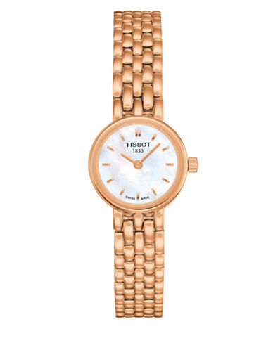 Tissot Lovely Analog Mother-of-Pearl Rose Goldtone Watch-ROSE GOLD-One Size