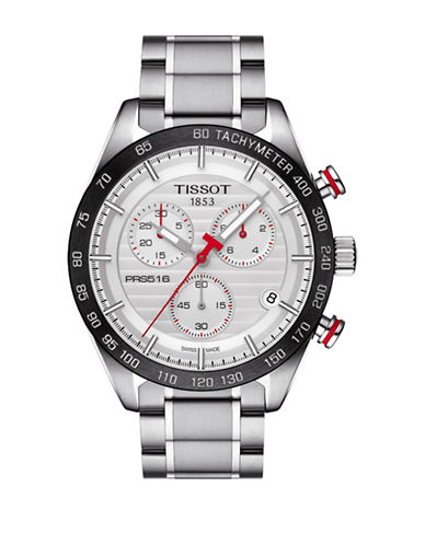 Tissot Chronograph PRS 516 Stainless Steel Watch-SILVER-One Size