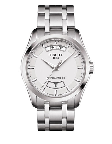 Tissot Couturier Powermatic 80 Automatic Stainless Steel Bracelet Watch-SILVER-One Size