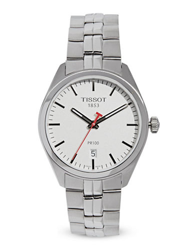 Tissot NBA Special Edition Stainless Steel Link  Bracelet Watch-SILVER-One Size
