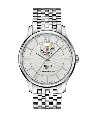 Tissot Tradition Automatic Stainless Steel Bracelet Watch-SILVER-One Size