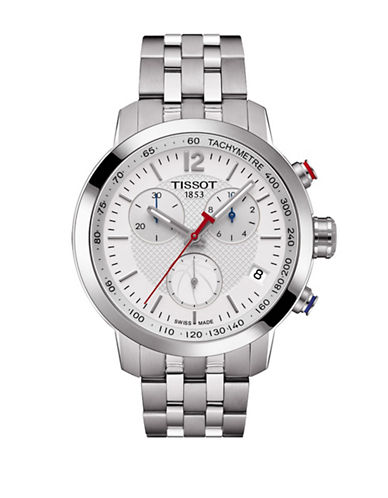 Tissot NBA Chronograph T-Sport Stainless Steel Watch-SILVER-One Size