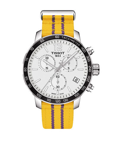 Tissot Los Angeles Lakers Quickster Chronograph T-Sport Watch-YELLOW-One Size