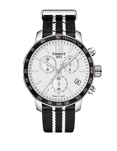 Tissot San Antonio Spurs Quickster Chronograph T-Sport Watch-BLACK-One Size