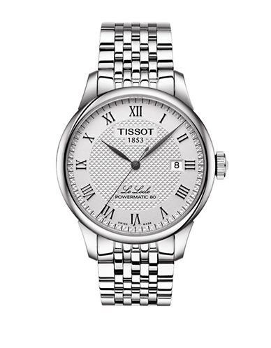 Tissot Le Locle Automatic Stainless Steel Bracelet Watch-SILVER-One Size