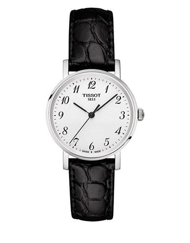 Tissot Quartz Everytime Leather Watch-BLACK-One Size