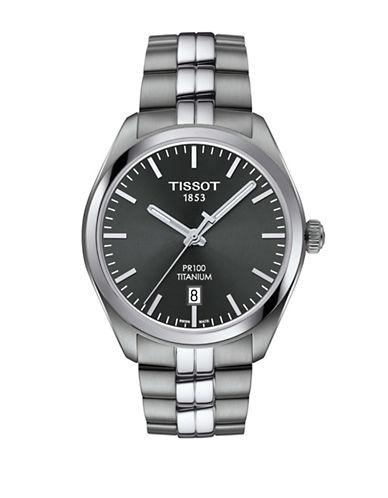 Tissot Analog T Classic Titanium Bracelet Watch-SILVER-One Size