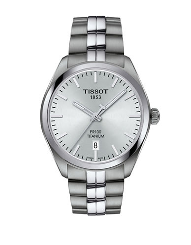 Tissot Analog T Classic Stainless Steel Bracelet Watch-SILVER-One Size