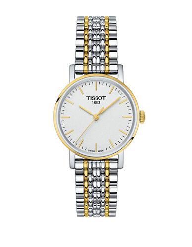 Tissot Analog T Classic Two-Tone Bracelet Watch-TWO-TONE-One Size