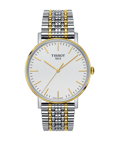 Tissot Analog T Classic Two-Tone Bracelet Watch-TWO-TONE-One Size